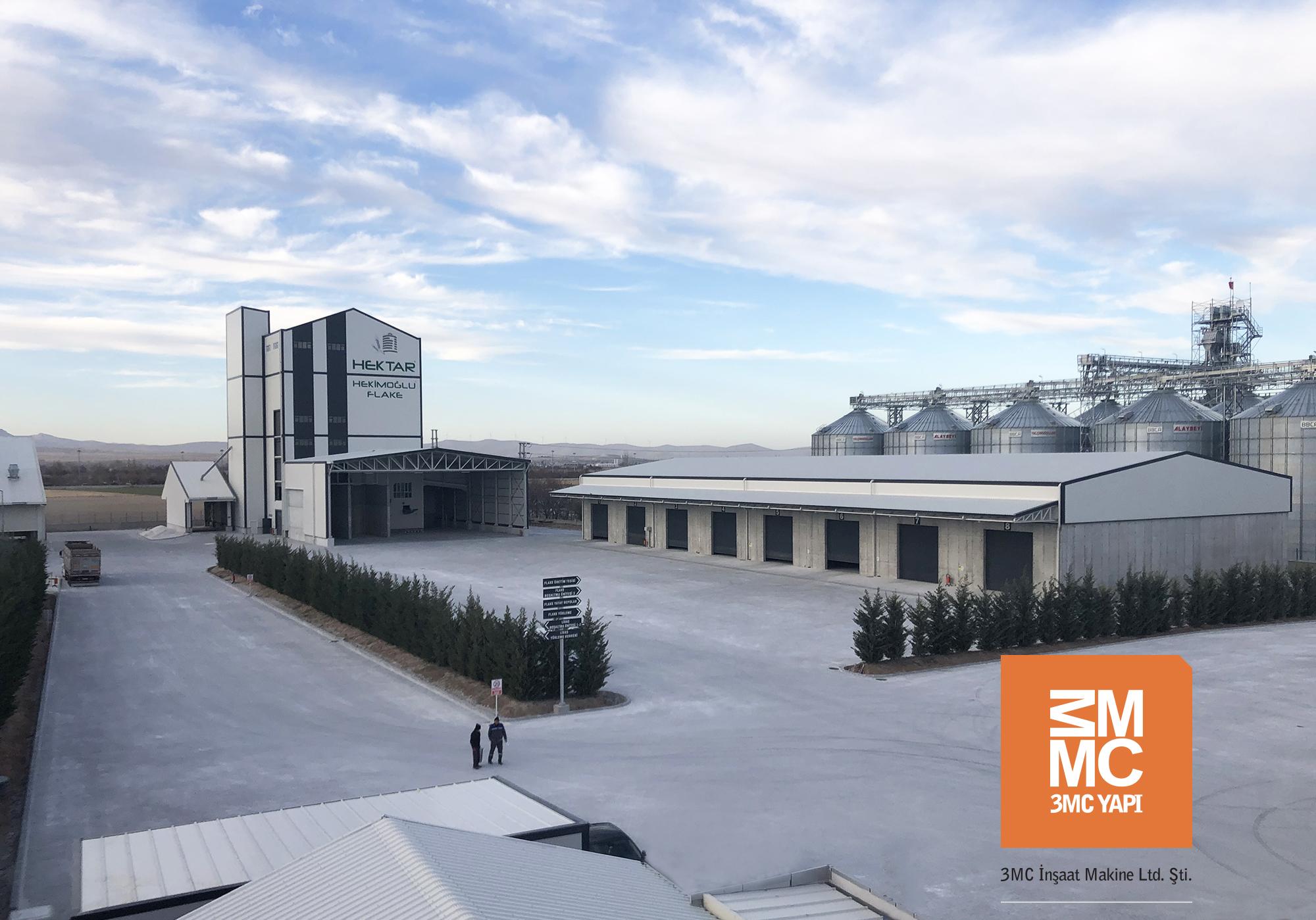Hektar Hekimoğlu Tarım Ürünleri San. ve Tic. A.Ş. Flake Tesisi ve Sundurması - Yatay Depoları || 3MC Yapı